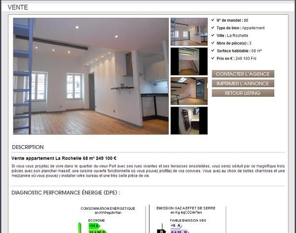 description bien immobilier