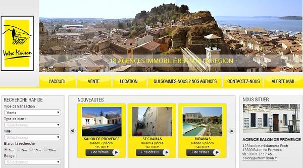 Cr ation site web immobilier salon de provence votre maison bouches du rhone - Agences immobilieres salon de provence ...